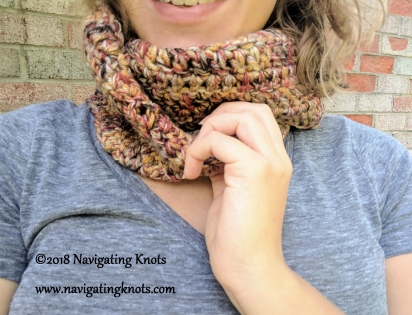 Convertible Infinity Scarf Cowl Free Crochet Pattern Navigating Knots